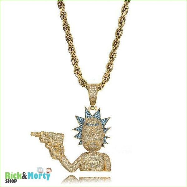 Collier Rick et Morty <br> - Gold-Rope / 24 - 1