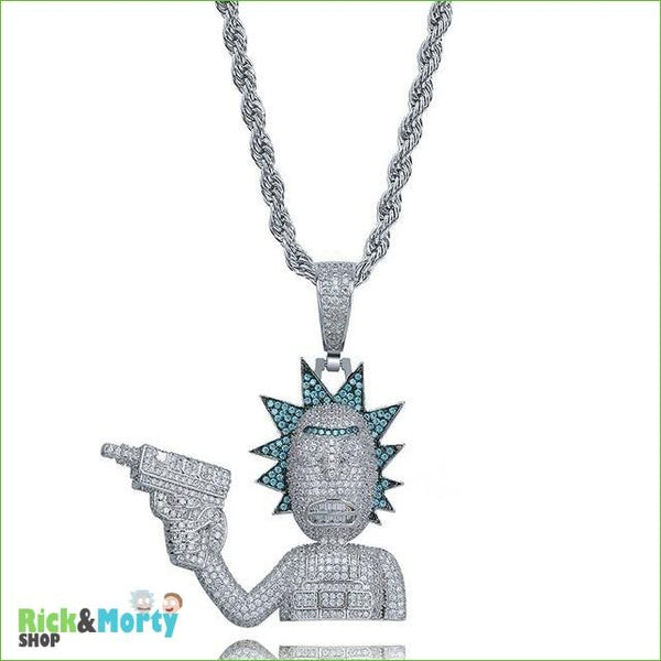 Collier Rick et Morty <br> - Silver-Rope / 24 - 5
