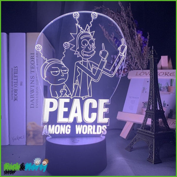 Lampe Rick et Morty <br> Peace among world - 1