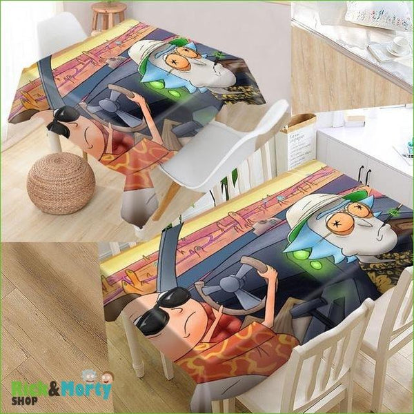 Nappe Rick et Morty <br> - tablecloth / 140x140cm - 4