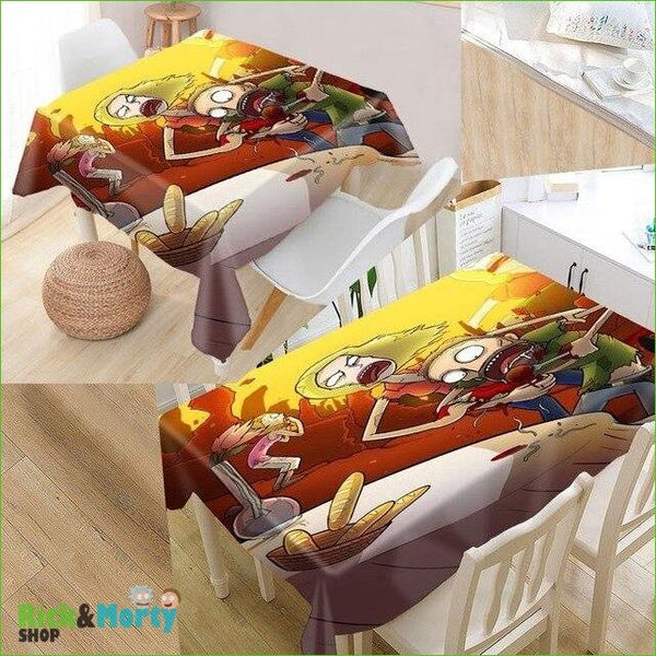Nappe Rick et Morty <br> - tablecloth 16 / 140x140cm - 5