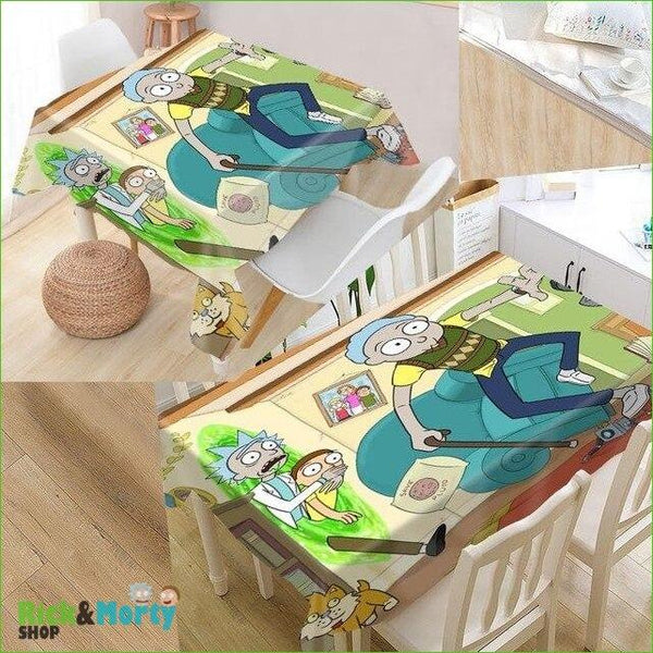 Nappe Rick et Morty <br> - tablecloth 3 / 140x140cm - 10