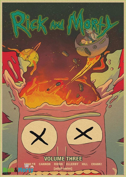 Poster Rick et Morty <br> - Coffee / 30X21CM - 23