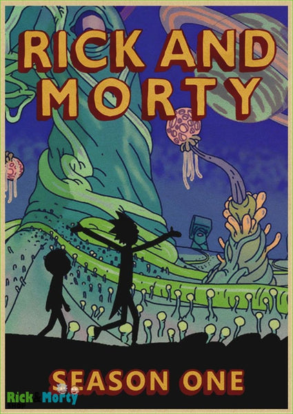 Poster Rick et Morty <br> - Dark Grey / 30X21CM - 6
