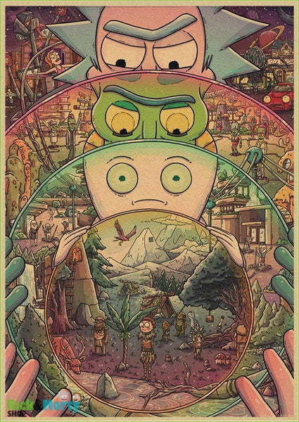 Poster Rick et Morty <br> - Light green / 30X21CM - 5