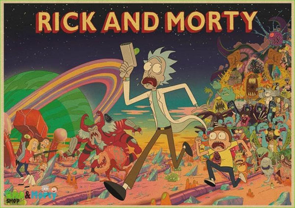 Poster Rick et Morty <br> - Purple / 30X21CM - 7