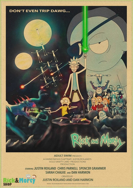 Poster Rick et Morty <br> - Sky Blue / 30X21CM - 26