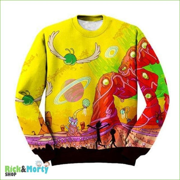 Pull Rick et Morty <br> Dimension 35C - 4XL - 1