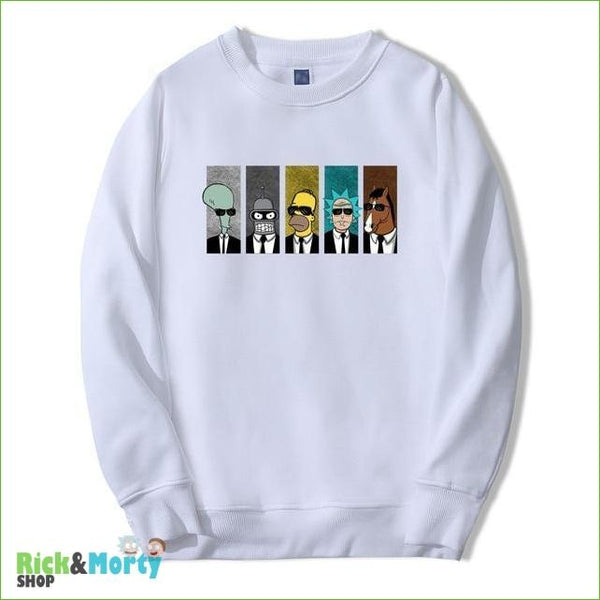 Pull Rick et Morty <br> Men in Black - Blanc / XL - 1