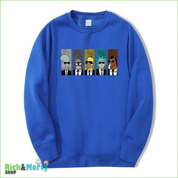 Pull Rick et Morty <br> Men in Black - Bleu / S - 9