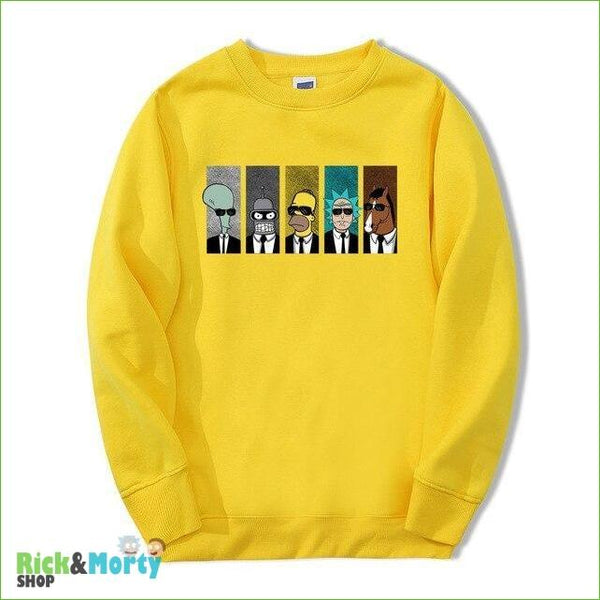 Pull Rick et Morty <br> Men in Black - Jaune / S - 2