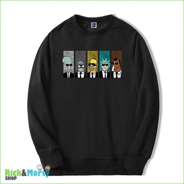Pull Rick et Morty <br> Men in Black - Noir / M - 8
