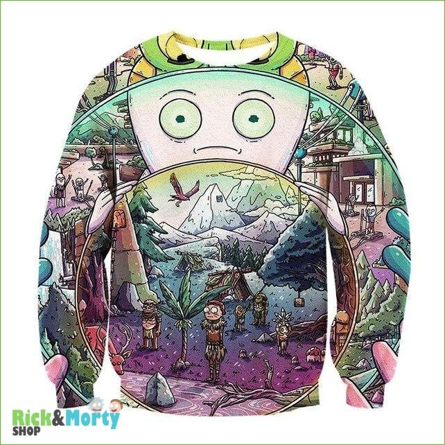 Pull Rick et Morty <br> Minivers - L - 1