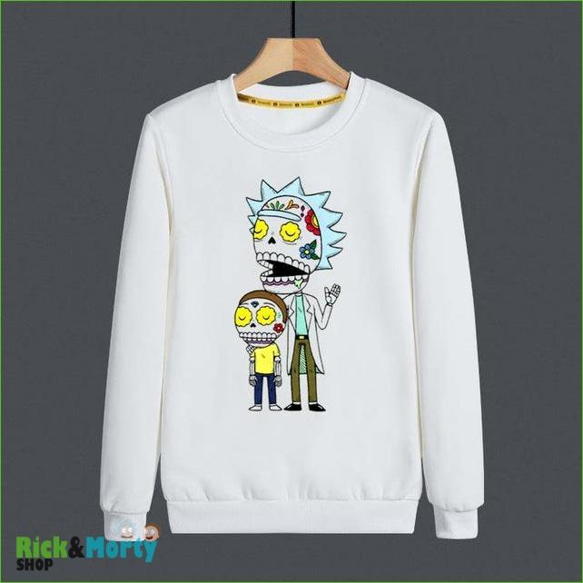 Pull Rick et Morty <br> Skull Flower - M - 1