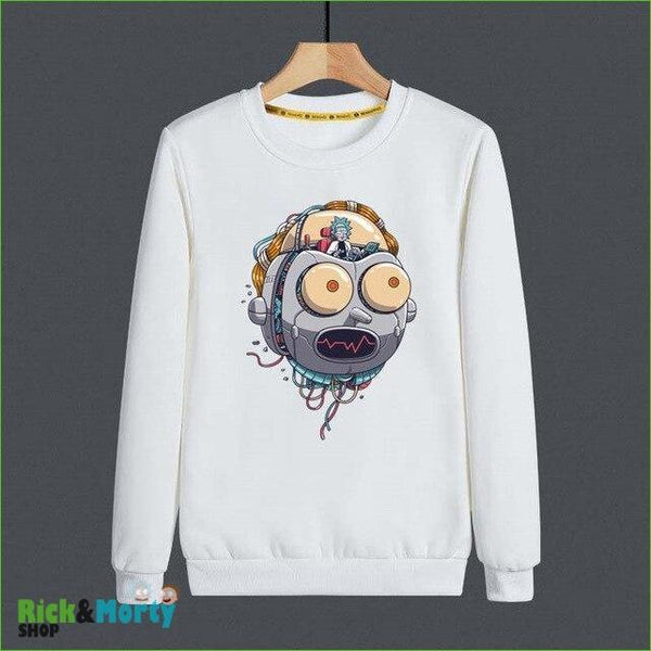 Pull Rick et Morty <br> Tête de Morty Cyborg - M - 1