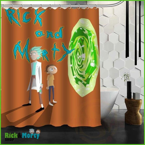 Best Nice Custom Rick And Morty Shower Curtain Bath Curtain Waterproof Fabric For Bathroom MORE SIZE WJY&62 - 17