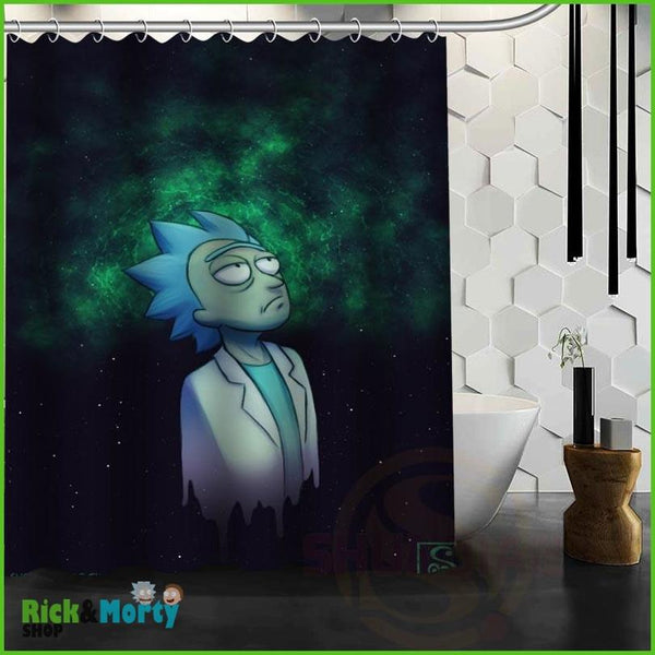 Best Nice Custom Rick And Morty Shower Curtain Bath Curtain Waterproof Fabric For Bathroom MORE SIZE WJY&62 - 15
