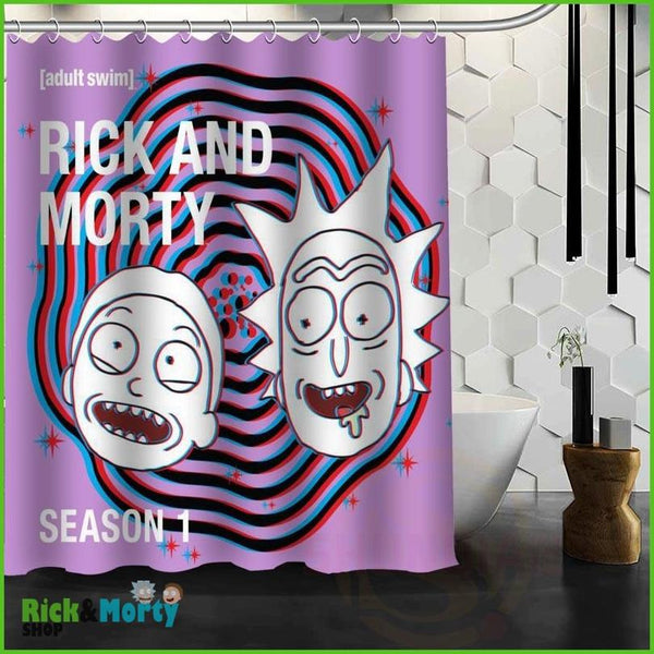 Best Nice Custom Rick And Morty Shower Curtain Bath Curtain Waterproof Fabric For Bathroom MORE SIZE WJY&62 - Blue / 60X72inch - 5