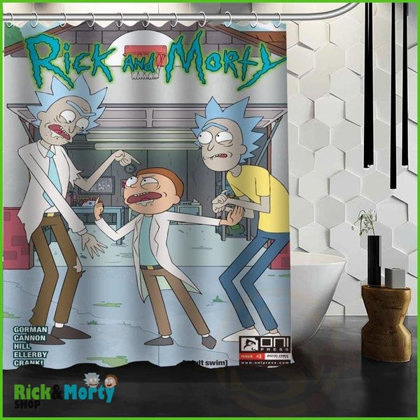Best Nice Custom Rick And Morty Shower Curtain Bath Curtain Waterproof Fabric For Bathroom MORE SIZE WJY&62 - Burgundy / 60X72inch - 19