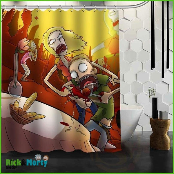 Best Nice Custom Rick And Morty Shower Curtain Bath Curtain Waterproof Fabric For Bathroom MORE SIZE WJY&62 - Orange / 60X72inch - 18