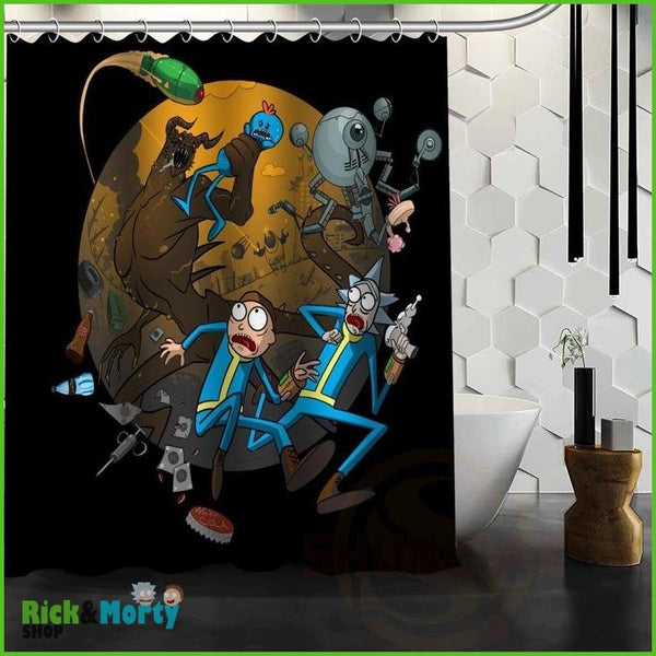 Best Nice Custom Rick And Morty Shower Curtain Bath Curtain Waterproof Fabric For Bathroom MORE SIZE WJY&62 - Pink / 60X72inch - 7