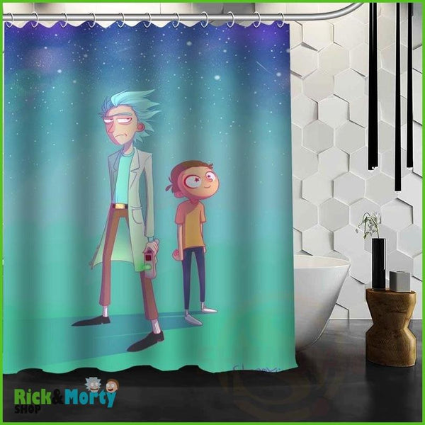 Best Nice Custom Rick And Morty Shower Curtain Bath Curtain Waterproof Fabric For Bathroom MORE SIZE WJY&62 - Red / 60X72inch - 13