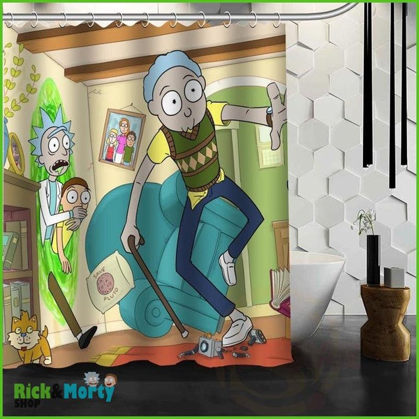 Best Nice Custom Rick And Morty Shower Curtain Bath Curtain Waterproof Fabric For Bathroom MORE SIZE WJY&62 - violet / 60X72inch - 20