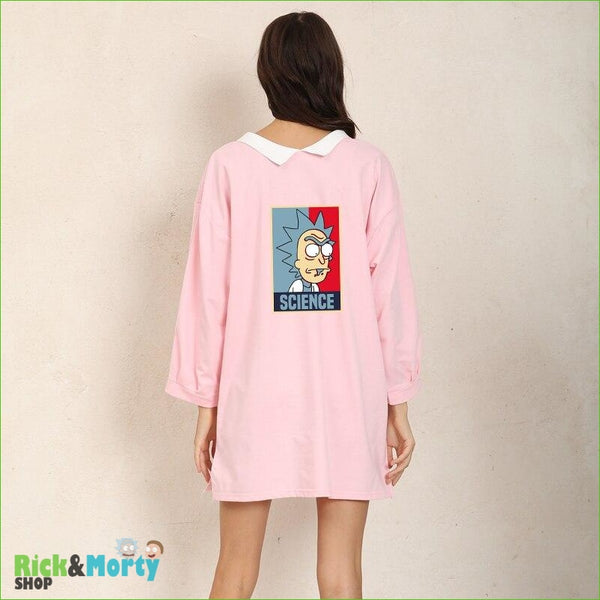 Shirt Dress Female Autumn Wearable On Both Sides Hip Hop Pullover Crazy SCIENCE RICK AND MORTY Harajuku Fashion Sweatshirts - 1