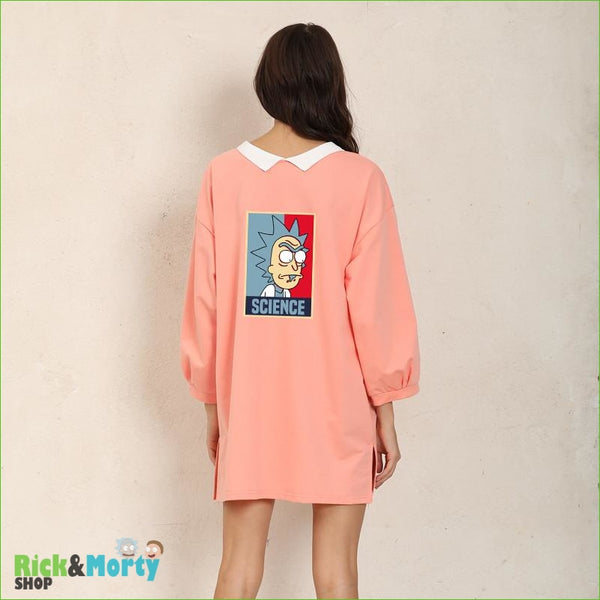 Shirt Dress Female Autumn Wearable On Both Sides Hip Hop Pullover Crazy SCIENCE RICK AND MORTY Harajuku Fashion Sweatshirts - Orange / XL -