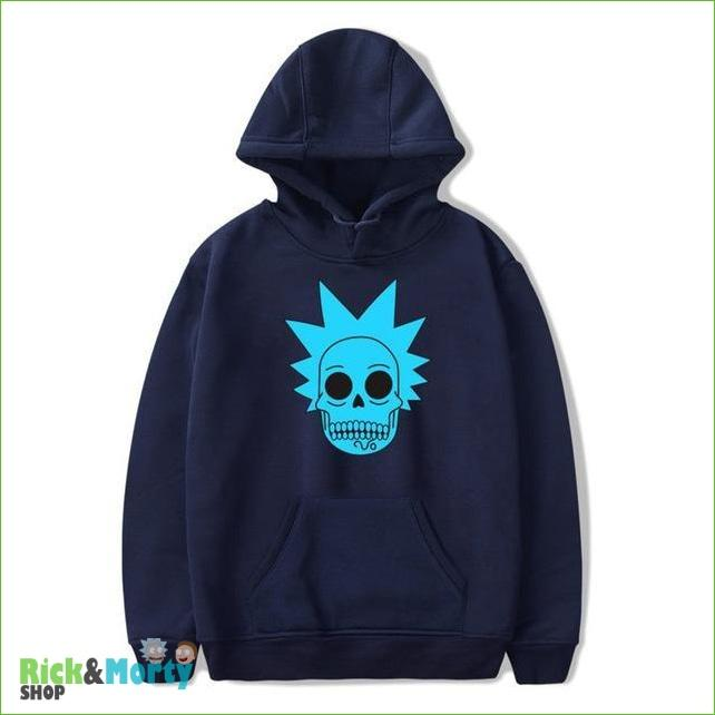 Sweat Rick et Morty <br> Skull Rick - Bleu / XL - 3