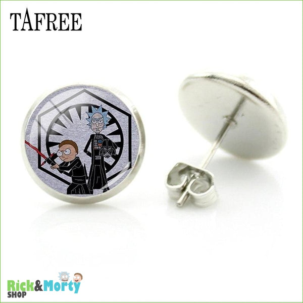 TAFREE Cute Cartoon Character Rick And Morty Figure Stud Earrings For Women Metal Action Figure Earrings Women Jewelry QF428 - QF446 - 12