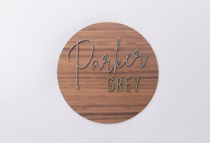 PERSONALISED NAME WALL PLAQUE