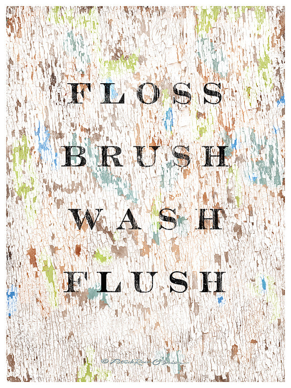 Floss Brush Wash Flush
