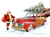Christmas Woody Car
