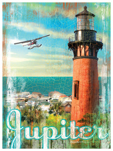 Jupiter Lighthouse and Airplane Flying