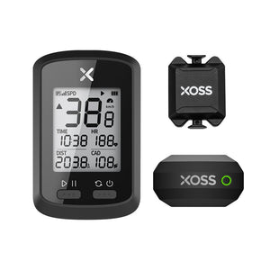 XOSS G+ GPS Bike Computer, Strava, Barometer, Cadence, Heart Rate, Bluetooth, Ant+, 25 Hours, Waterproof - XOSS.CO