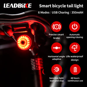 LEADBike LD75 Smart Bike Rear Ligth, 6 modes, Smart Brake, Automatic On, Light Detect, 48 Hours, Waterproof, Shockproof - XOSS.CO