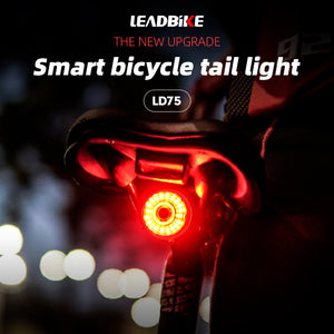 LEADBike LD75 Smart Bike Rear Ligth, 6 modes, Smart Brake, Automatic On, 48 Hours - XOSS.CO