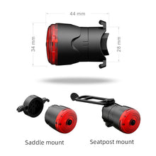 Load image into Gallery viewer, LEADBike LD75 Smart Bike Rear Ligth, 6 modes, Smart Brake, Automatic On, 48 Hours - XOSS.CO