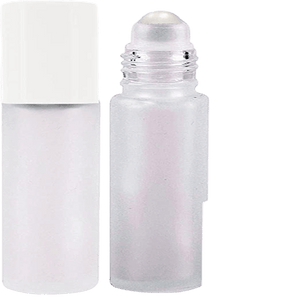 10 ml - 1/3 oz Frosted Glass Roller Bottle Set - Soap & More the Learning Centre Inc