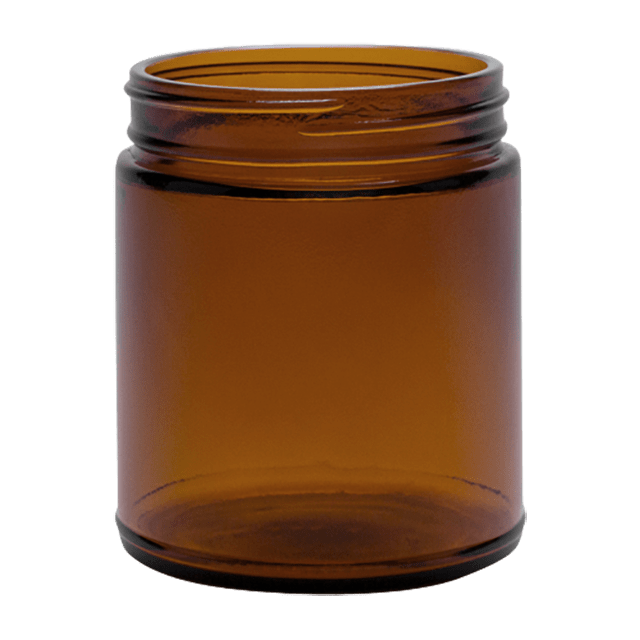270 ml Glass Amber Jar LIDS SOLD SEPARATELY - Soap Making Supplies, Essential Oils, Fragrance Oils at Calgary, Alberta Soap and More the Learning Centre Inc in Canada