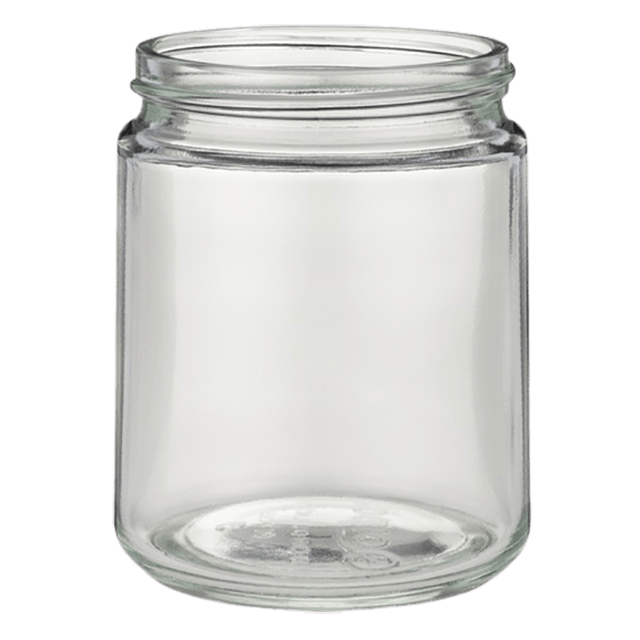240 ml glass jar clear LIDS SOLD SEPARATELY - Soap Making Supplies, Essential Oils, Fragrance Oils at Calgary, Alberta Soap and More the Learning Centre Inc in Canada