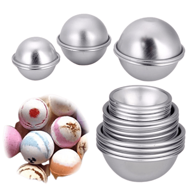 "Bath Bomb Mold Sphere 1.5"" Metal - Soap Making Supplies, Essential Oils, Fragrance Oils at Calgary, Alberta Soap and More the Learning Centre Inc in Canada"