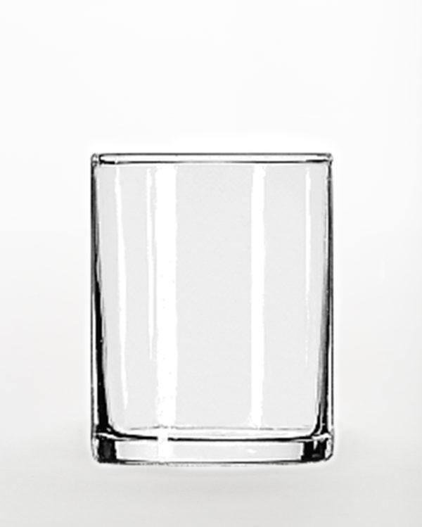3.5 oz Clear Glass Tapered Votive Container