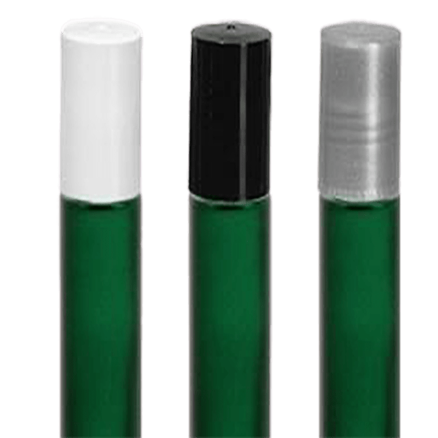 10ML Frosted Green Glass Roller Bottle Set - Soap & More the Learning Centre Inc