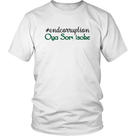 """end corruption , District Unisex Shirt"""