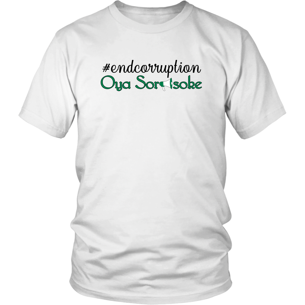 """end corruption , District Unisex Shirt"