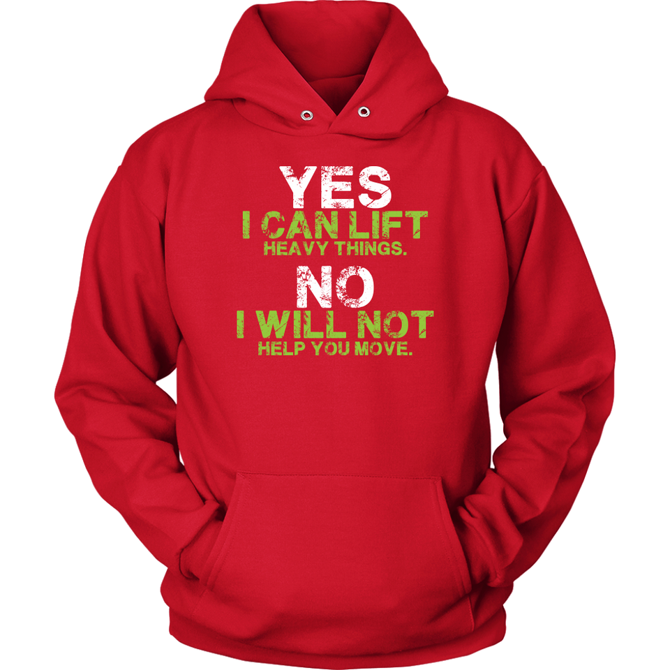 ''Fitness---Yes-I-Can-Lift-No-I-Cant-Help-You-Move'' HOODIE