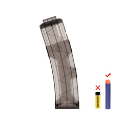 JGCWorker 22 Darts Clip Magazine for Nerf N-strike Elite Blaster, 3 Colors