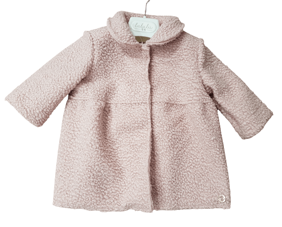 Cappotto boucle |GBL39D| - Coccole e Ricami |email: info@coccoleericami.shop|
